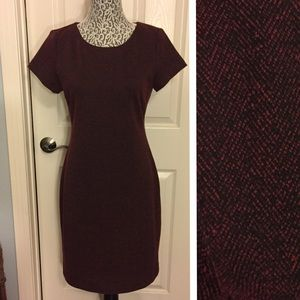 Ganni Anthropologie Red and Black Dress